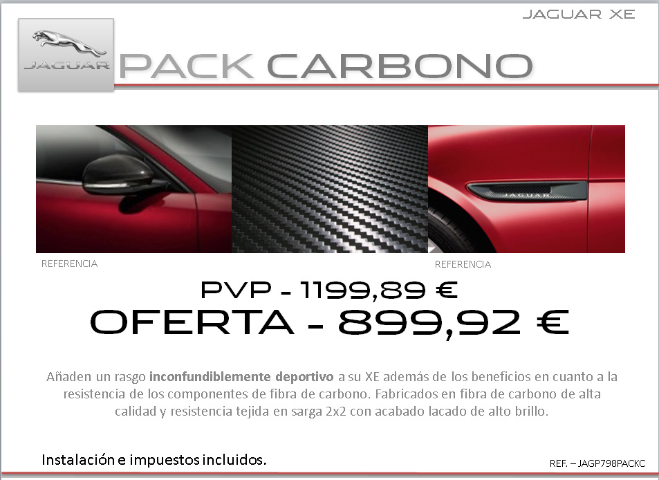 accesorios Jaguar XE3
